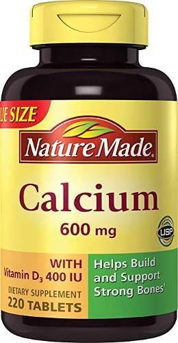 Naturaleza de calcio hecho (carbonato) 600 mg w. d3 400 ui c