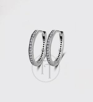0f71f2a89d84 Aretes huggies plata esterlina 925 zirconias corte diamante