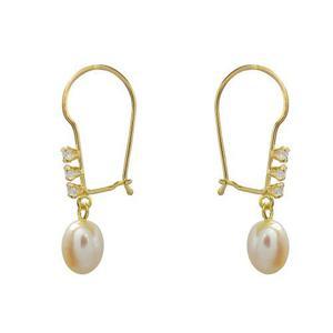 549d274b643f Aretes oro 10 kilates circonia con perla para mamá