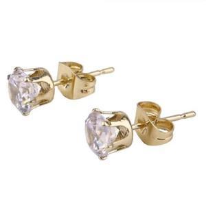 decd2bb71dbd Aretes oro laminado 18kgp diamante ruso mujer joyería moda en México ...