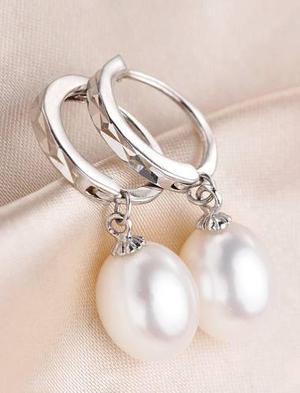 a92365097211 Aretes perla natural freshwater plata925 novia regalo