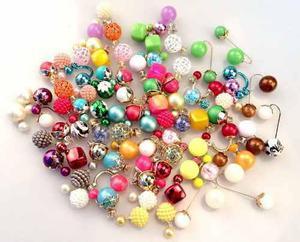 be76b14af9ff Lote 20 pares de aretes doble perla doble cara moda mayoreo en ...