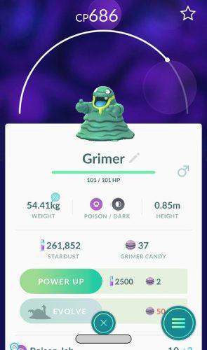Alolan grimer pokemon go por intercambio pokemon con suerte 7e5e3bfecda