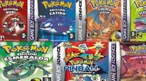 Paquete de juegos pokemon gameboy gba para pc y android