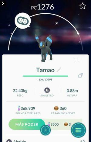 Pokemon go familia evee shiny por intercambio