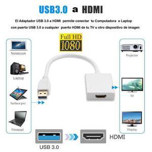 Adaptador convertidor usb 3.0 a hdmi full hd 1080p win7/8/10