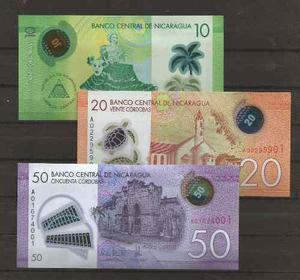 Colección 3 billetes de nicaragua actuales