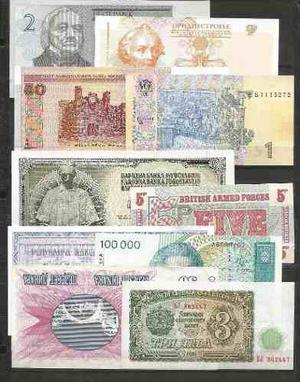 Coleccion 10 billetes de europa