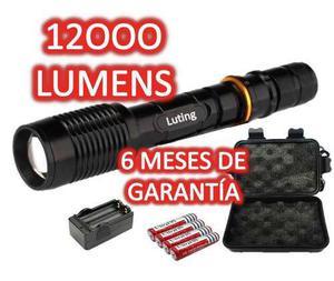Kit 2 lampara tactica 12000 cree led t6 xlm 6 meses