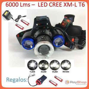 Lampara Tipo Minero Cabeza 3 Focos 6000 Lumens Dt104