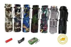 Mayoreo! 10 lampara tactica mini recargable 5 modelos led q5