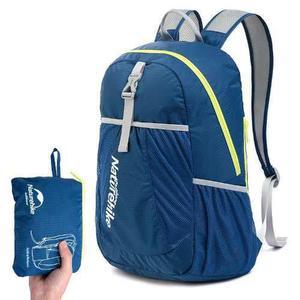 Mochila plegable ultraligera excursion naturehike 22 lt azul