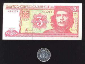 Moneda y billete del che