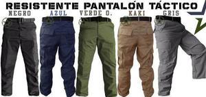 Pantalon de bolsas tactico comando en tela gabardina