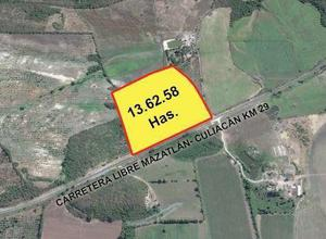 Terreno en venta en mazatlán carretera libre mzt-cln 13.62