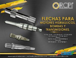 Flechas para motores hidráulicos