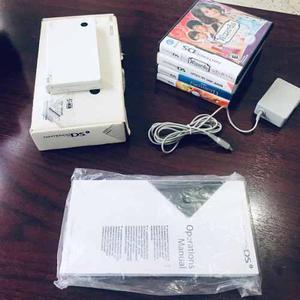 Consola nintendo ds dsi blanca / white completa + 4 juegos