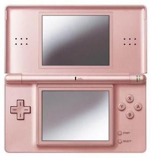 Coral pink consola portátil nintendo ds lite system