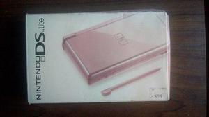 Nds nintendo ds lite rosa con caja + 2 juegos de regalo