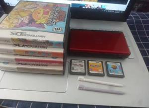 Nintendo ds lite + 3 juegos + 2 stylus originales