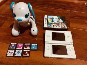 Nintendo ds lite con 8 juegos