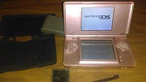 Nintendo ds lite, rosa, cargador, funda, lapiz, juegos
