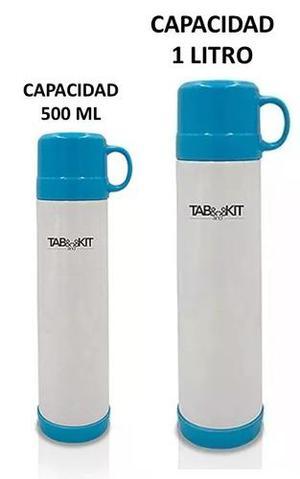 Termos para agua fría/ caliente de acero inox. incluye