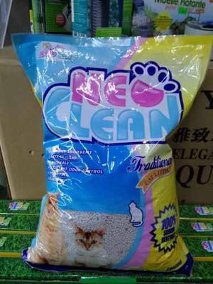 Arena para gatos neo clean 10 libras limon mascotas