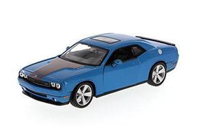 Dodge challenger srt, azul - maisto 34280 - 1/24 escala die