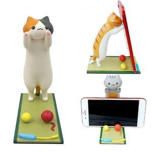 Gatito gato soporte para detener celular casa u trabajo