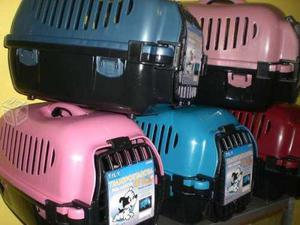 Jaula transportadora gato perro chica 50x30x30