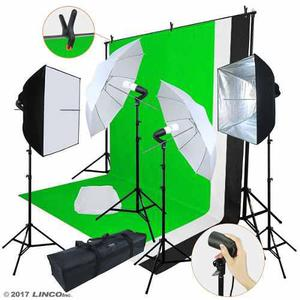 Kit fotográfico softbox set fotografía estudio