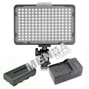 Kit lampara profesional video 176 leds incluye pila y cargad
