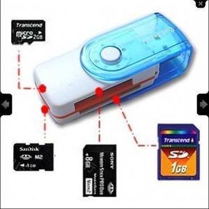 Lector adaptador de memorias 13 en 1 usb micro sd m2