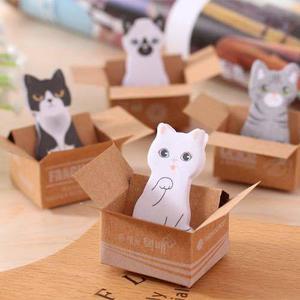 Post-it memo gatito pegatinas gato kawaii gatitos 4 pzas