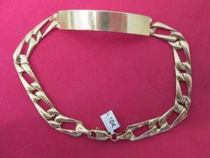 81ea1450988d Esclava fígaro troquelada en oro de 10 kilates. en México   REBAJAS ...