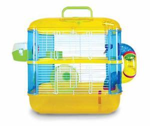Jaula para hamster de 2 pisos con tubos y accesorios