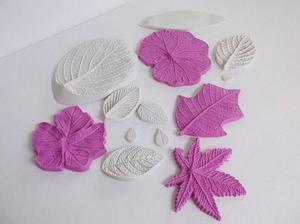 Kit marcadores molde hoja hojas fondant foamy pasta francesa
