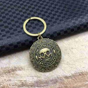 Llavero de medallón de pirata pirata del caribe jack