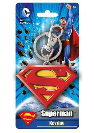 Llavero superman logo metal keychain dc comics nuevo