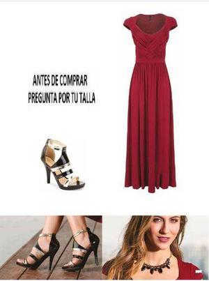 Maxi 72501 vestido largo moda nacional rinna tallas extras