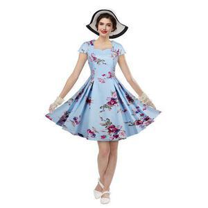Mujer vestido de new vintage de la impresión floral vestido
