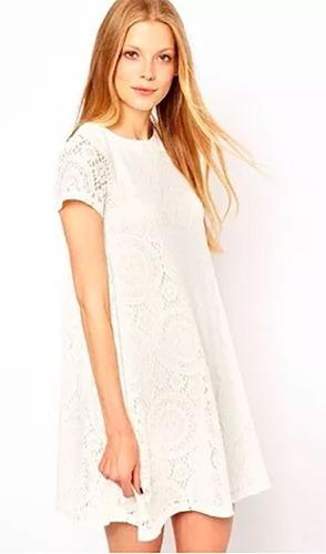 Pura ganga: hermoso mini vestido corte a varios colores