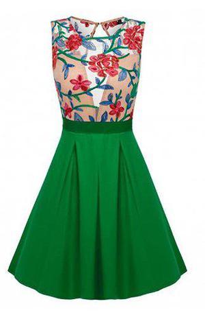Pura ganga: vestido oriental tipo retro floreado