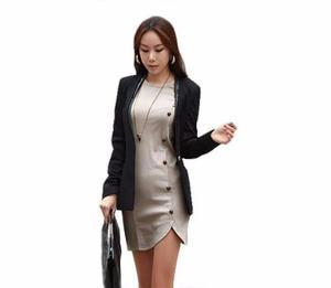 Vestido con botones casual elegante moda japonesa mujer 5114