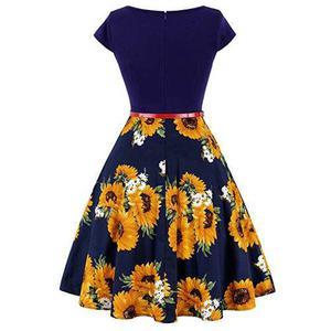Zaful mujer vendimia 50s columpio vestido