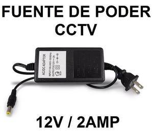Fuente de poder para cctv camaras 12v 2amp viagcel