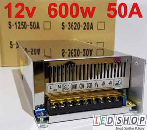 Fuente poder 12v 600w 50a led driver transformador ledshopmx