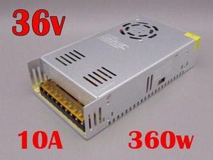 Fuente poder 36v 10a 360w cnc led transformador ledshopmx