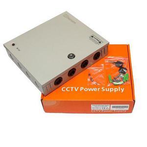Fuente poder cctv camaras 9ch 12v 10a 120w hs1210 vigilancia